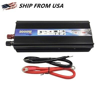 2000W 4000 WATT DC 12V AC 220V Car Electronic Power Inverter Charger Converter