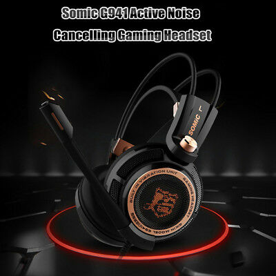 Somic G941 Active Noise Cancelling Gaming Headset with Mic Vibrating LED light