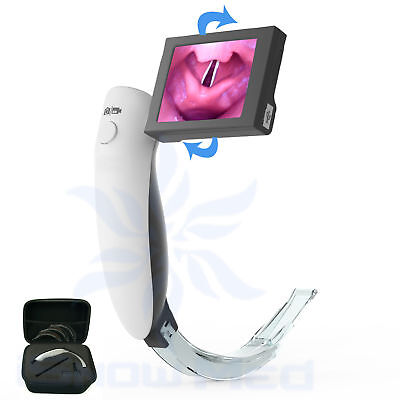 Video laryngoscope with disposable anti-fog Blade to take Photo / Video in 1s