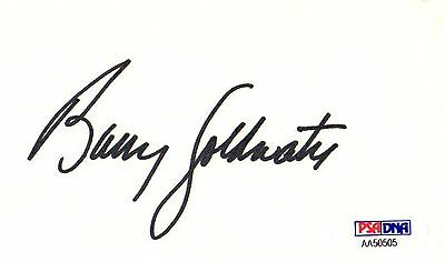 Psa/dna Legendary Politician Barry Goldwater Autographed-Signed 3X5 Index Card 5