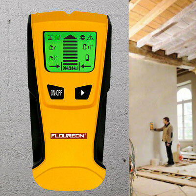 Floureon 3 in 1 Stud Center Finder Wall Detector LCD Screen Metal AC Live Wire