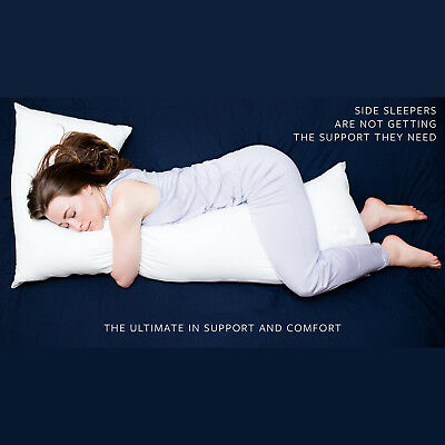 L Shaped Pillow Extra Fill Comfort Body Back Support Nursing Maternity Pregnancy