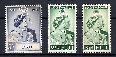 Fiji 1948 KGVI Silver Wedding mint LHM set SG270-271 WS7233