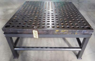 """5' x 5' ACORN Type Welding Table 1-3/4"""" Square Holes, Stand (30020)"""