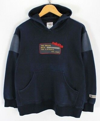 adidas Boys sweater, Size L 14-16, Hoodie, Navy Blue, Cotton, Vintage #EF875