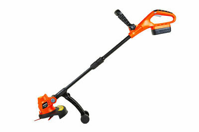 Cordless Strimmer Brushcutter Grass Trimmer 18v Li-Ion Battery Charger Garden