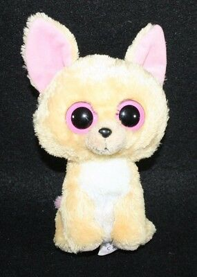 "Ty Beanie Boos  NACHO the 6"" Chihuahua Dog Plush Stuffed Bean Animal"