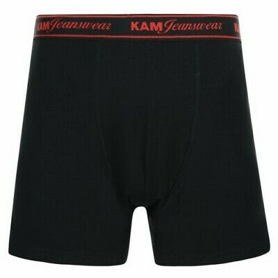 Kam 6 Pack Jersey Boxers (Kbs804), in Black in size 2XL to 8XL