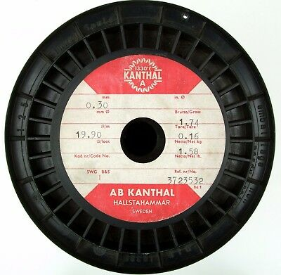 Kanthal A 0.30mm, 28-29 AWG, 19.9 Ω/m, Genuine Kanthal Resistance Wire 3-20 m