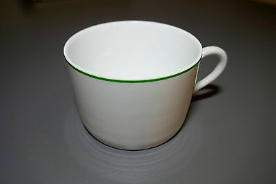 Philippe Deshoulieres Cup White Porcelaine de Limoges with Green Band