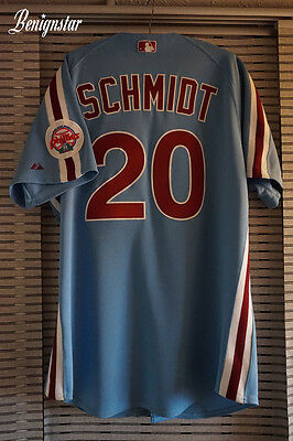 Mike Schmidt Majestic Replica Phillies 1987-1988 Road Jersey