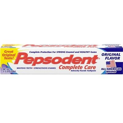 Pepsodent Complete Care Anticavity Toothpaste, Original Flavor, 5.5 oz (PACK 12)