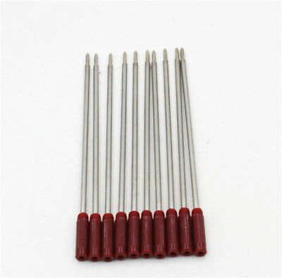 10 CROSS Style Ballpoint Pen Refills - RED - ZERO $ SHIPPING ! These work good !