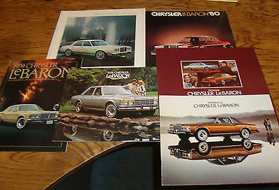 Original 1977 1978 1979 1980 1981 Chrysler Lebaron Sales Brochure Lot of 6