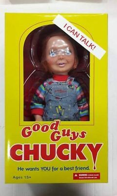 "Mezco Toys Childs Play Good Guys Happy Chucky 15"" Talking Sound Doll Free P&P"