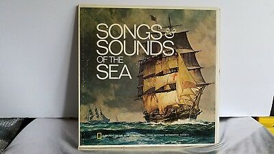"""1973 """"songs And Sounds Of The Sea"""" National Geographic Society 12"""" Vinyl Record"""