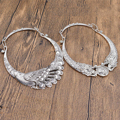 Vintage Dragon Choker Necklace Wedding Party Jewelry Womens Gift Fashion Decor