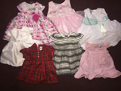Lot baby girl Size 6-9 months Dresses Free Shoes