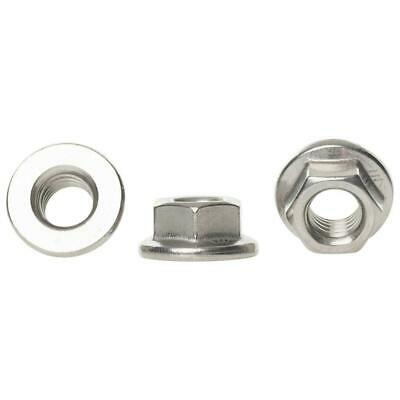 M3 M4 M5 M6 M8 M10 M12 A2 Stainless Steel Non Serrated Flanged Nuts Hex Flange