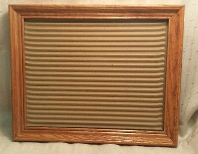 "Vintage Solid Wood 8""×10"" Photo Frame Stand or Wall Real Glass Picture Light Oak"
