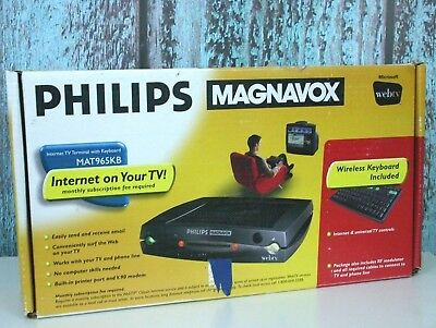 Philips Magnavox Webtv MAT965KB Internet on Your TV w/Box and instructions