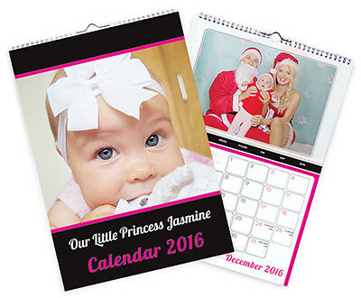 2019 A4 Personalised Photo Calendars - Ideal For Christmas Presents-Custom Dates