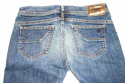 VOLCOM Youth Girls / Boys Straight Leg Blue Jeans Size 7 30 x 30 Low Rise