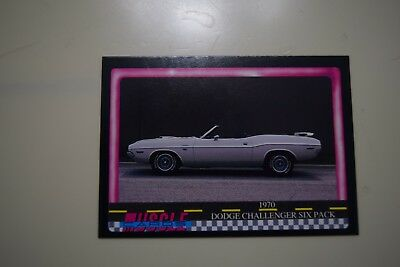 Muscle Cards Series 1 King Of The Hill #69 1970 Dodge Challenger Six Pack