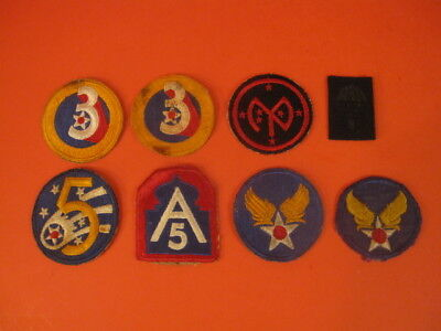 LOT OF 8 ORIGINAL US AIRFORCE and OTHER MILITARY PATCH WW2