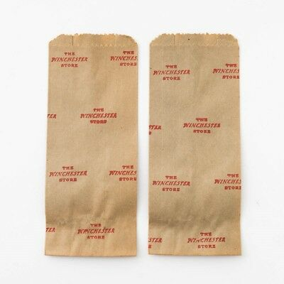 Set of 2 Vintage Winchester Store Small Item Folding Brown Paper Shopping Bags