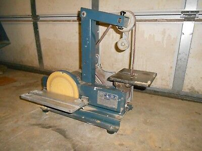 "Used Jet Sander-Grinder 1 x 42 in.  Belt and 8"" Disc bench Sander metal/wood"