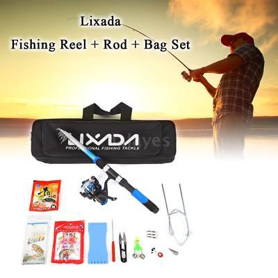 Lixada Fishing Tackle Set with 2.1m Fishing Rod Spinning Reel Bag Kit Suits F4T2