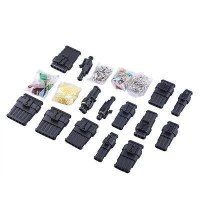 Waterproof Sealed Electrical Connector Terminal 1/2/3/4/5/6 Pin Fuses Mixed Set