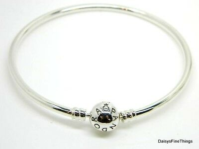 New/tags Authentic Pandora Silver Bangle Bracelet #590713 19Cm 7.5 In Choice Box
