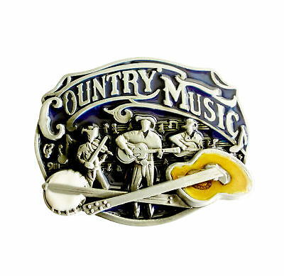 Oval Country Music Band Buckle