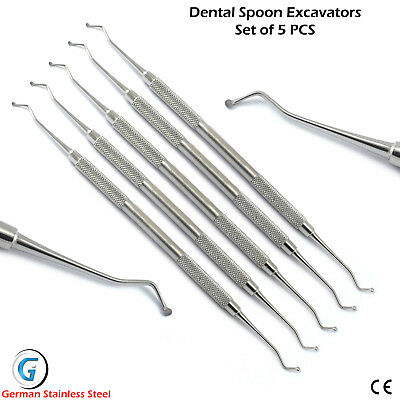 Dental Spoon Excavator 1 mm Decay Carious Remover Dentin Enamel Tooth Excavator