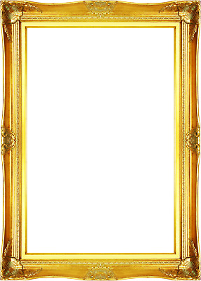 Vintage Style Old Silver Ornate Picture Oil Painting Frame 568-4 Frame 24x36