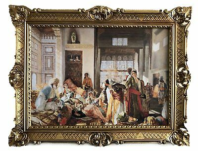 Painting Oriental Bazaar Pictures` Harem `` Baroque 90x70 Wall Decoration New