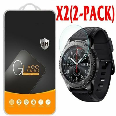 2Pcs For Samsung Gear S3 Frontier Smart Watch Tempered Glass Screen Protector TR
