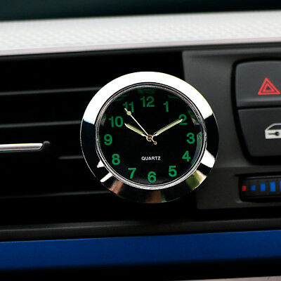 Decoration Air Mini Vehicle Clock Vent Clock Silver Dashboard Clock Perfect New