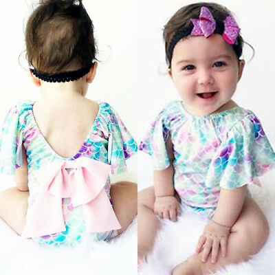 Fashion Kid Baby Girls Swimwear Swimsuit Bikini Set Bathing Suit Scales Costume
