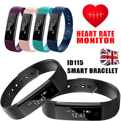 Veryfit ID115HR Smart Band FITNESS TRACKER/Heart Rate Monitor for iPhone Android