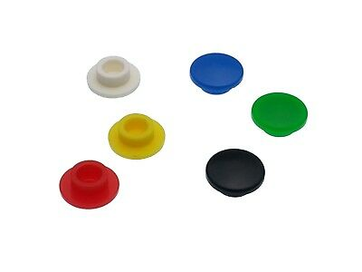 Round A29 Key Caps for 6mm Tactile Push Button Switches - 6 Colours