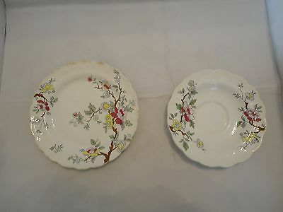 Vintage Booths Made In England Chinese Tree Plate and Bowl Collectors