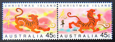 1998 Christmas Island Stamps - Lunar New Year- Year of Tiger - Set of 2 MNH