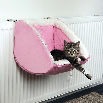 Cat Kitten Princess Adjustable Radiator Bed, Quilted Plush stable metal frame