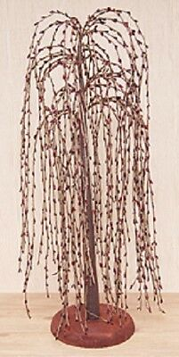 """New Primitive Pip Berry Weeping Willow Tree 18"""", Burgundy FARMHOUSE Decor"""