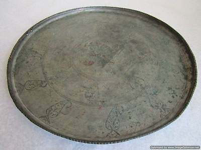 Turkey Ottoman Empire, 18th century, Heavy, massive tray for serving and dining!