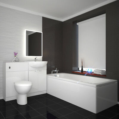 Complete Bathroom 1000mm Yubo Vanity BTW Unit Suite with-out Bath and LED Mirror