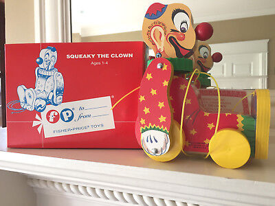 NIB Fisher-Price Toyfest Squeaky The Clown Pull Toy Limited Ed. Low #108 1995